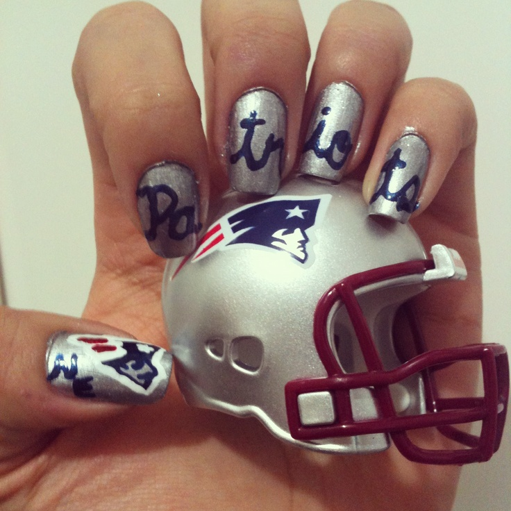 40 best New England Patriots Nails, Hair, & Makeup images on ...