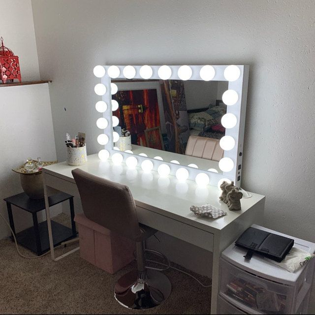 Xl Hollywood Vanity Mirror 43x27 Makeup Mirror With Lights
