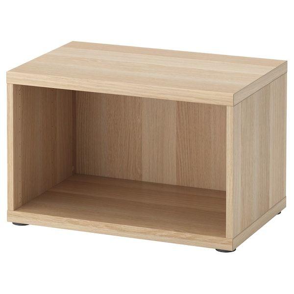 Besta Structure Effet Chene Blanchi 60x40x38 Cm En 2020 Ikea Chene Blanchi Et Plancher