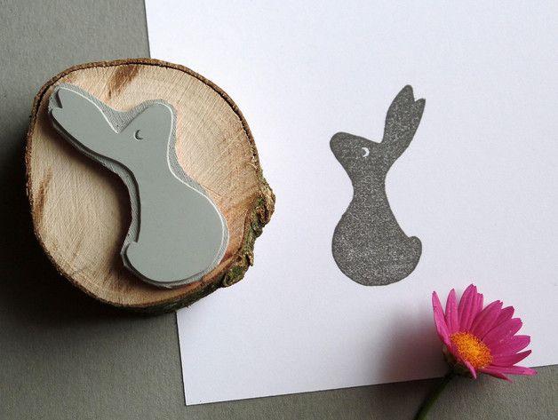 Stempel Osterhase, Frühling / easter stamp, little rabbit, spring home decor made by Rotkehlchen via DaWanda.com