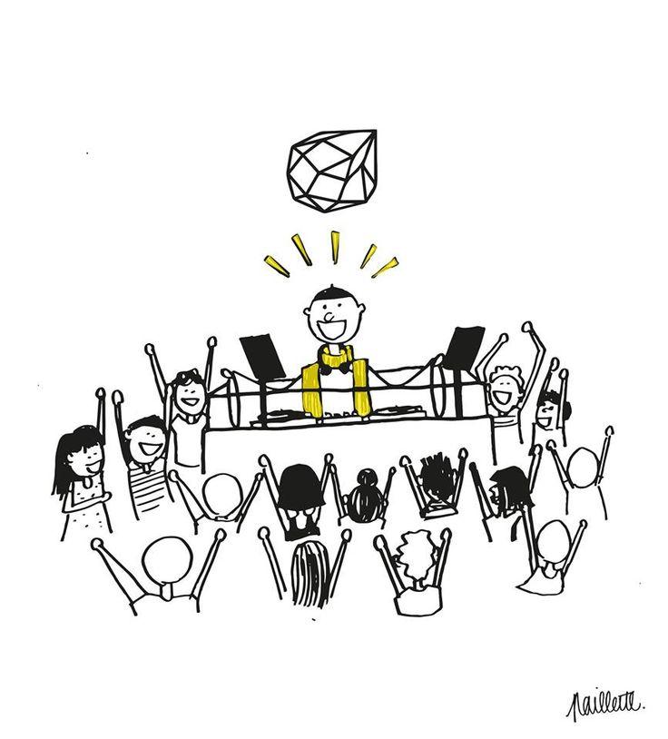 La messe du dimanche selon CONCRETE | techno | mix | illustration | paillette | comics | dj | paris | night | dance | messie