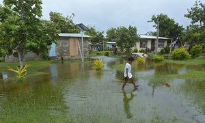 Floods in Fiji. Pacific island nations are particularly vulnerable to rising sea levels, and Frank Bainimarama, the Fijian president, has written to Trump to urge him to stay in the Paris deal.