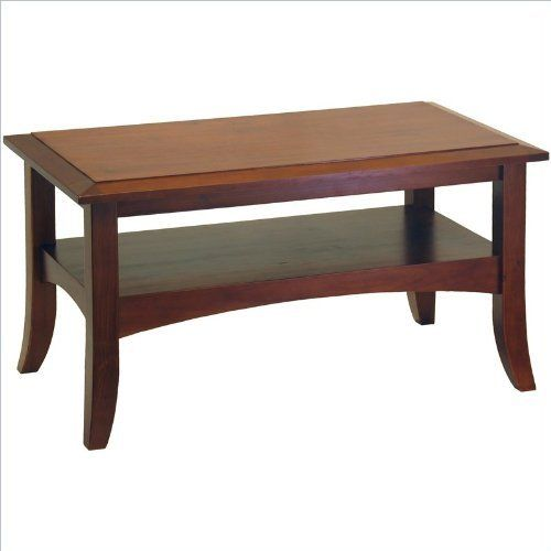 Winsome Wood 94234 Craftsman Coffee Table, Antique Walnut by Winsome. $69.96. Warmth walnut finish.. Single shelf offers the nice spot for convenient storage of books, DVD and remote controls.. Slightly crafted with flare-tip legs and traditionally profiled trim.. Finish/Color :Antique Walnut  Craftsman Coffee Table  Slightly crafted with flare-tip legs and traditionally profiled trim  Single shelf offers the nice spot for convenient storage of books, DVD and remote c...