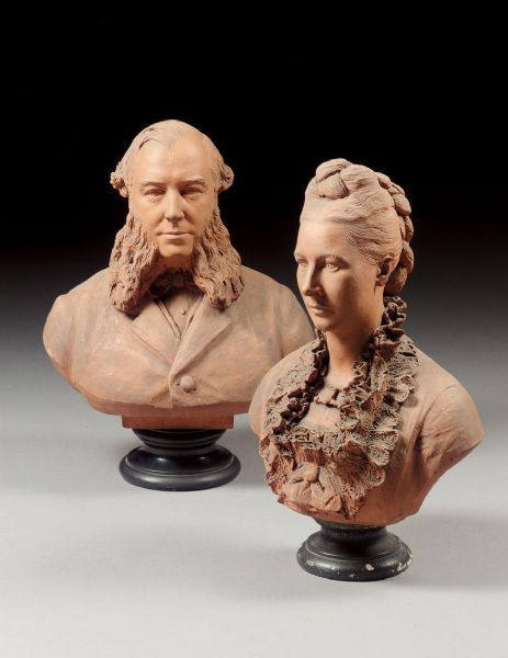 A Lady And Gentleman24.02 x 0 in Terracotta. By Percival Ball