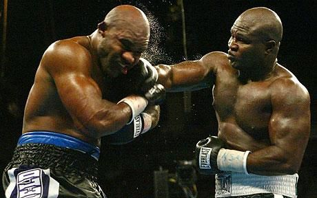 evander i told you don't come round here with that bullshit  (james toney) one my favorite warriors