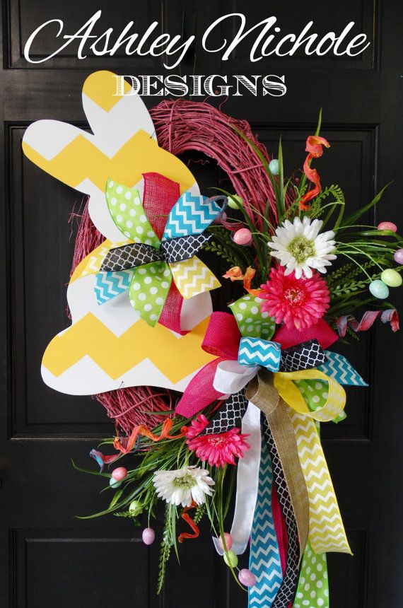 This is a beautiful and colorful wreath