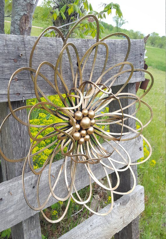 Large Metal Flower Wall Art Garden Flower Wall Decor Metal Fence