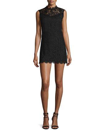Corail+Sleeveless+Lace+Mini+Dress,+Black+by+Iro+at+Neiman+Marcus.