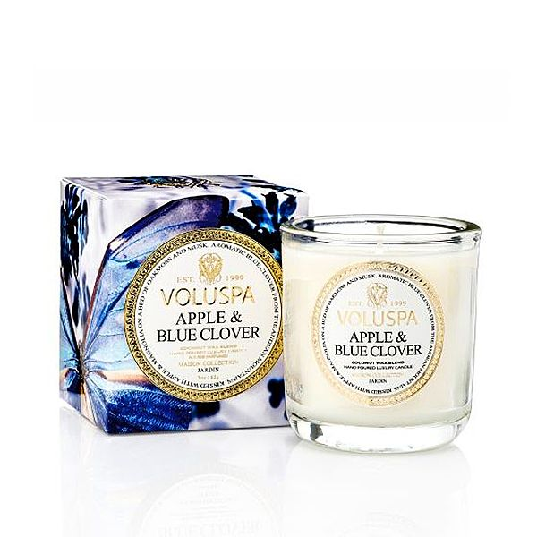 Apple & Blue Clover Voluspa компактная свеча в стекле