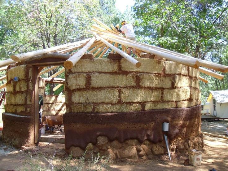 Straw Bale Cob Classroom Straw Bale Cob Earth Bag