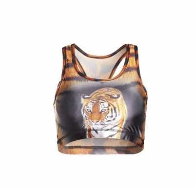 Camiseta Sin Mangas Cuello Tigre Para Mujer Tiger Neck Tank Top For Women  Caracteristicas Del Producto:  - Gender: For Women - Material: Polyester -