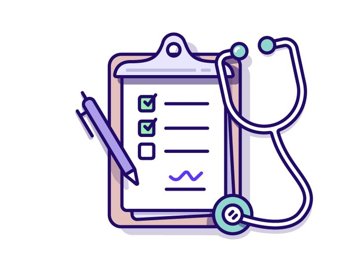 The more detailed set created for a Medical clients iOS app. The illustration is displaying: 'Medical checklist'. Large file attached Keen to hear your thoughts and don't forget to click L