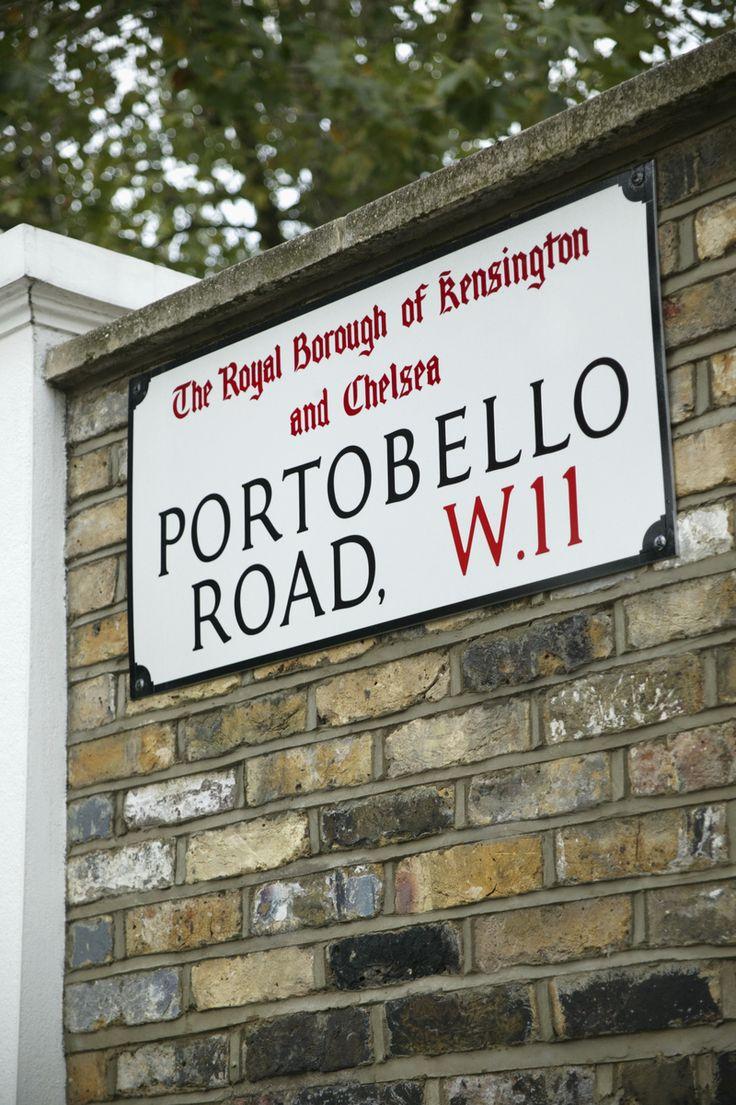 Portobello Road, London, Angleterre (Portobello Road sign, London, U.K.)