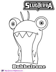 Bubbaleona | SLUGTERRA: Ghoul from Beyond DVD Info and Coloring Pages | SKGaleana