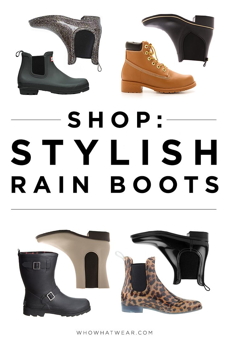 13 Stylish Rain Boots to Shop for Now