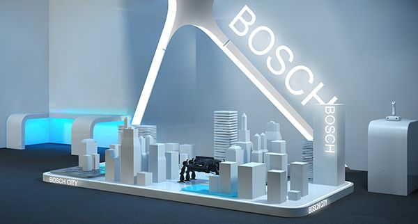 stand design BOSCH by justyna podczasi, via Behance