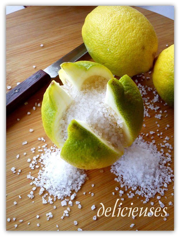 Λεμόνια κονφί-Lemons confit (παστά λεμόνια)