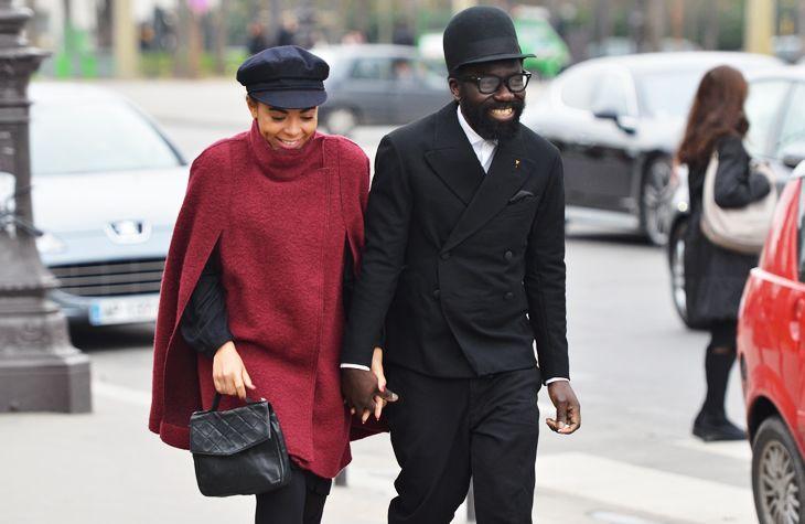 Tommy Ton: Stylish Black Couple, Power Couple, Happy Couple, Couple Power, Paris Chic, Couple Fashion, Fashion Bit, Street Style, Couple Style
