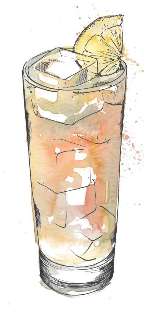 Long Island Iced Tea. I love painting cocktails as watercolour and pen and ink works so well creating the glass and liquid. Commission your very own artwork by clicking the link.