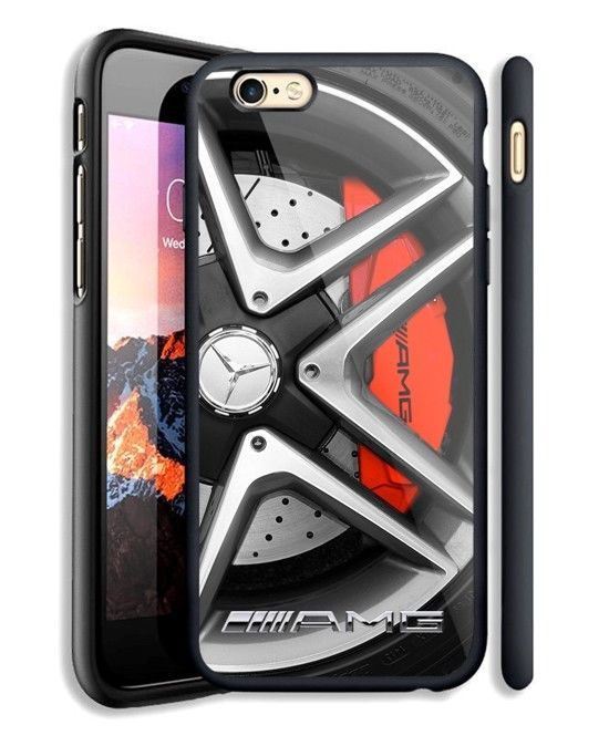 detailed look 2e849 bcc5c Mercedes Benz AMG Wheels Fit Hard Case For iPhone 6 6s Plus 7 8 Plus ...
