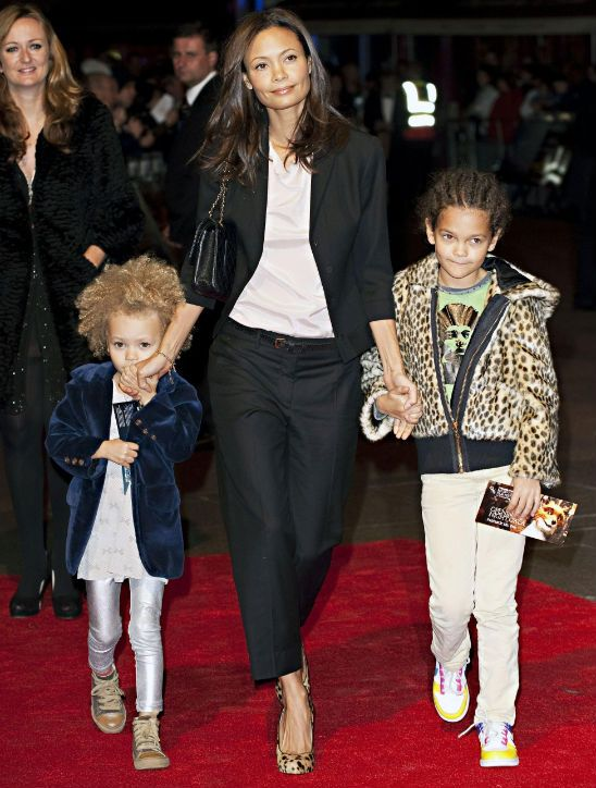 Thandie Newton & her daughters.