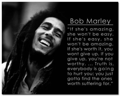 Bob Marley Beautiful Quote-Poster Only