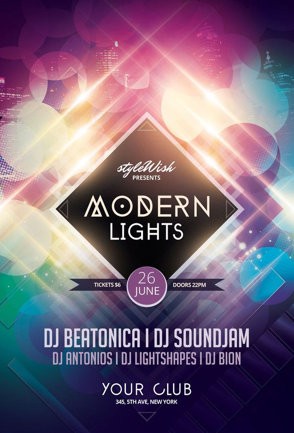 Modern Lights Flyer by styleWish (PSD template by styleWish)