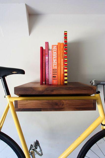 Guardando a bicicleta em casa