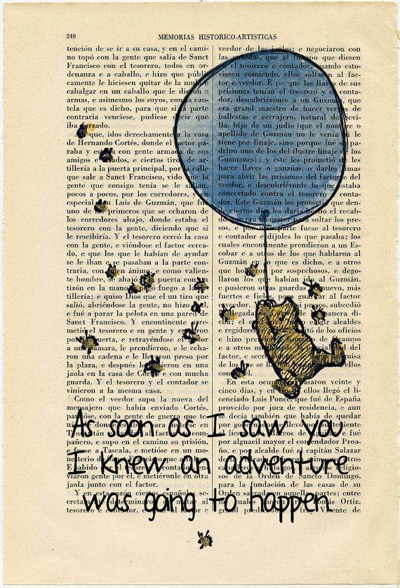 Winnie the Pooh Nº3 quote Vintage Art Print E by ThePurpleHamster