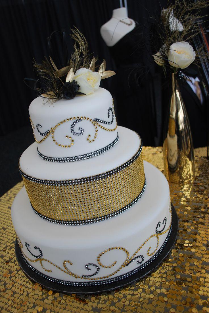 Glitzy Gold Cake buttercream wedding cake