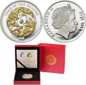 10 Oz Dragon Silver Coin