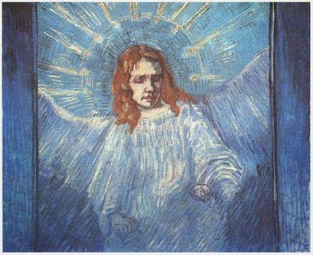 Άγγελος  - 1889 (από έργο του Ρέμπραντ)