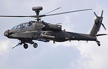 UK Army Air Corps Westland WAH-64D Apache Longbow displays at a UK airshow