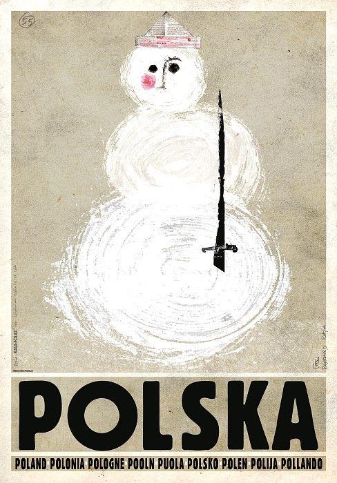 Snowman, Polish Promotion Poster, Ryszard Kaja