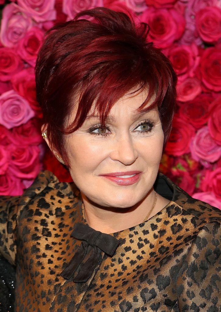 More Pics of Sharon Osbourne Layered Razor Cut