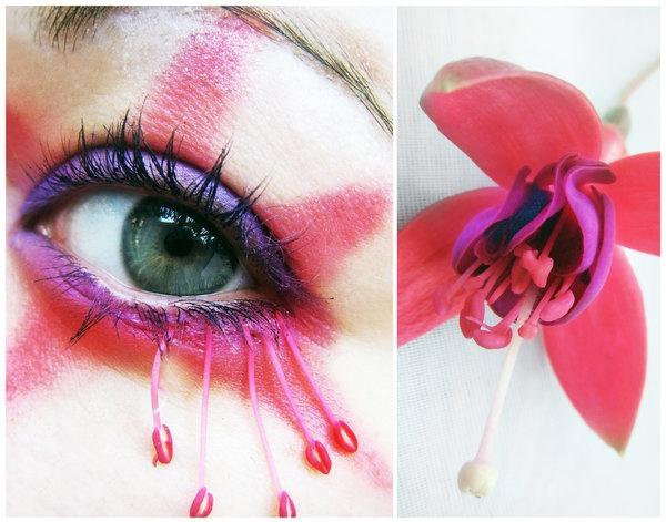 сумасшедший, глаз, глаза, цветок, любовь
