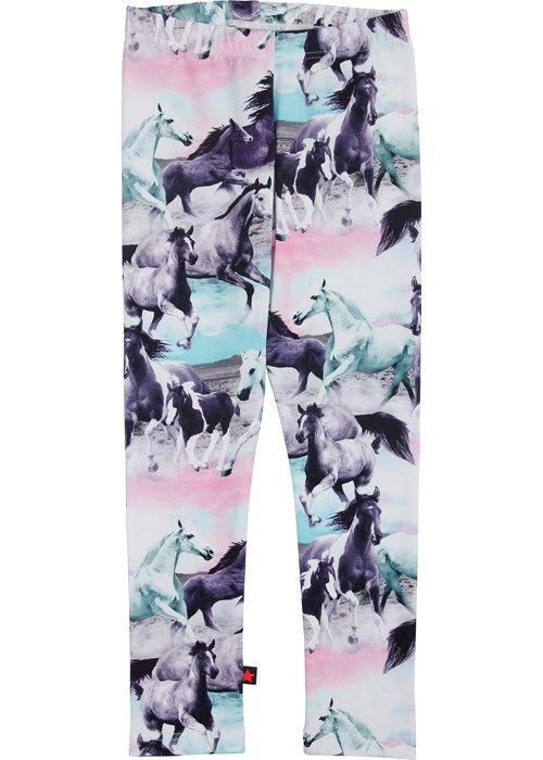 Molo kids niki leggings wild horses. tytölle 140cm (n,30e)