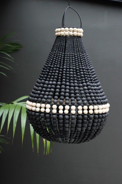 Lourmarin beaded chandelier black rag more lampshade