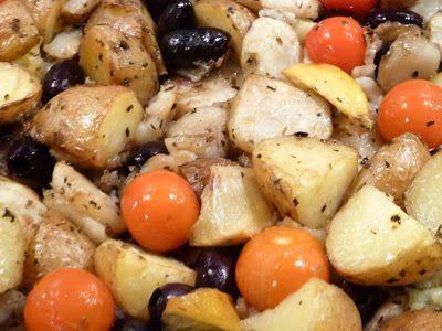 Oven gebakken aardappelen met aardpeer en citroen - myTaste.nl