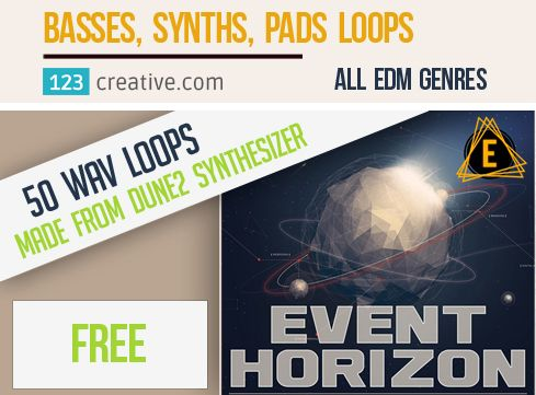 ► Download FREE Event Horizon - LOOPS (made from Dune 2 presets) for your EDM production (Progressive House, Electro House, Big Room, Festival House, Trance, Psytrance, Nu-Disco, Dubstep and Bass Music, Minimal Techno, Tech House), available at: https://www.123creative.com/electronic-music-production-audio-samples-and-loops/1436-free-event-horizon-loops-made-from-dune2-presets.html  #freesamples