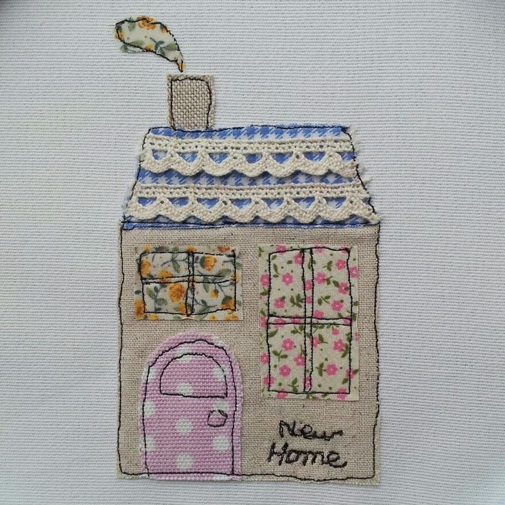 Freehand machine embroidery new home card