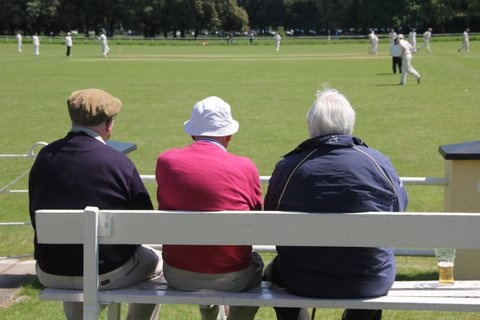 The Old Brigade: Dermot Giltinan, Bertie Coleman and Billy Bradley watch on as Cork County take on Phoenix at Phoenix Park in Dublin #CCCC