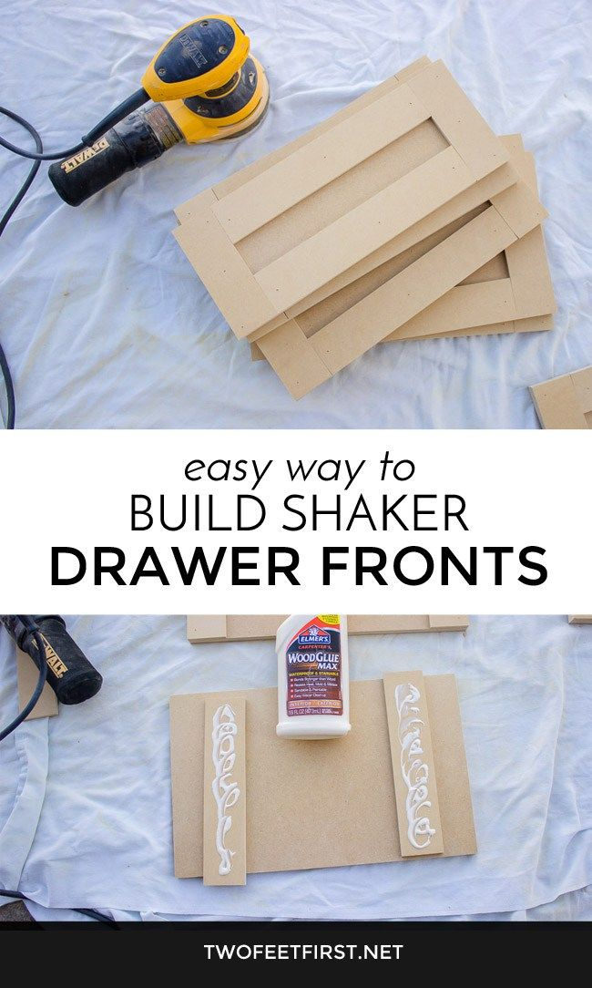 Easy way to build shaker style drawer fronts.
