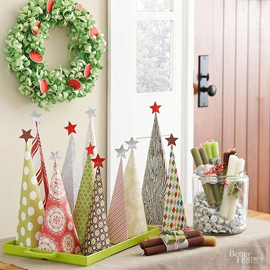 Fun And Colorful Tabletop Christmas Trees. Holiday IdeasChristmas  IdeasChristmas CraftsChristmas ...