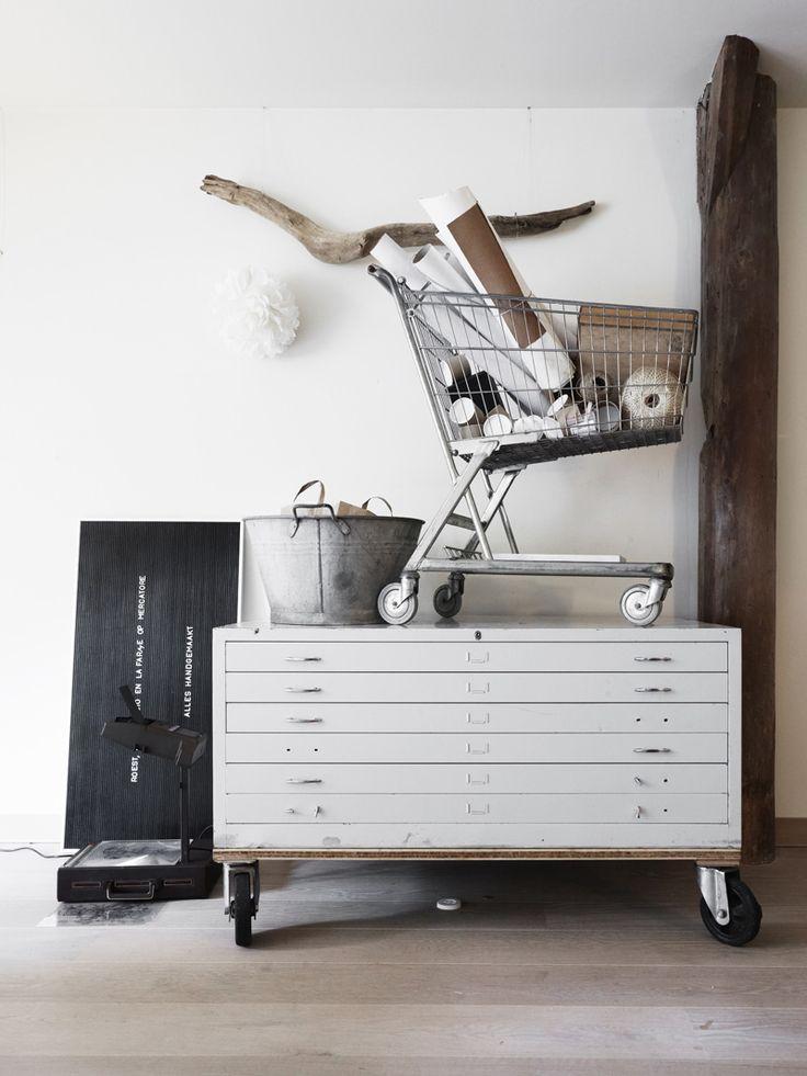 LaFarme-letterpress-studioCoffe Tables, Emma Design Blog, Marjon Hoogervorst, Studios, Work Stations, Wheels, Interiors Design, Design Home, Vintage Home Decor