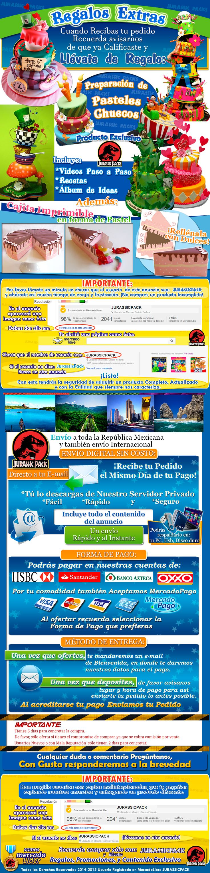 Mega Pack De Pasteles Fondant, Pasteles Chuecos Recetas - $ 99.00 en MercadoLibre