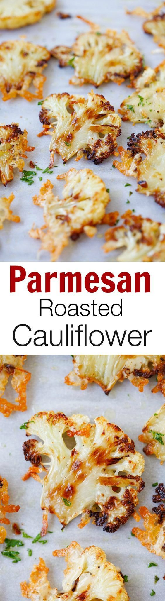 Parmesan Roasted Cauliflower – the most delicious cauliflower ever, roasted with butter, olive oil and Parmesan cheese. SO GOOD you'll want it every day!! | rasamalaysia.com
