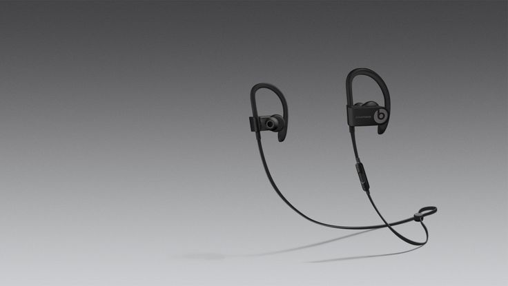 Powerbeats3 Wireless earphones in black, with Apple's W1 chip for better bluetooth connectivity and 12 hours of battery life to fuel long workouts and powerful, dynamic sound. BeatsbyDre