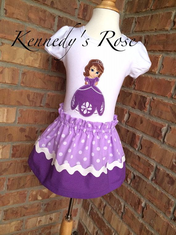 Sofia the first outfit on Etsy, $40.99