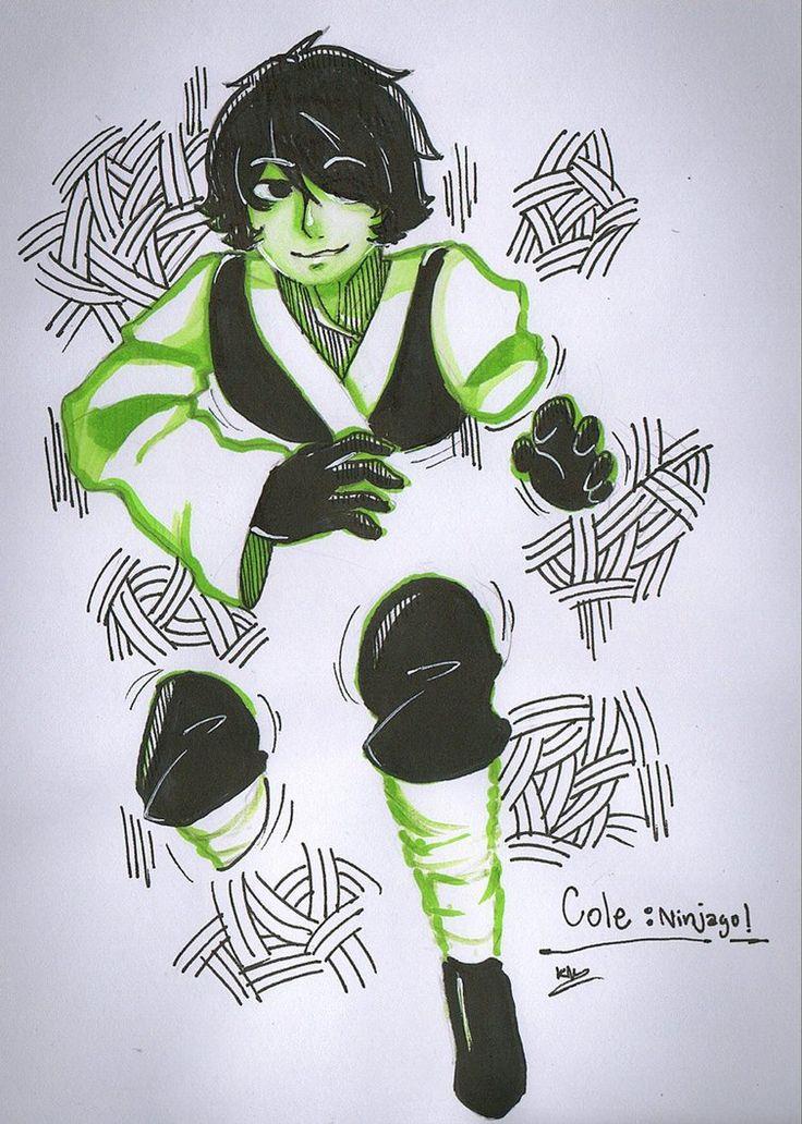 Ninjago :: Cole through the wall by Khwan123-and-ninjago